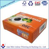 2016 Custom Logo Boîte d'emballage en papier recyclé jetable imprimée