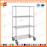 Chariot d'aménagement de fil d'hôtel de cuisine de Home Office de chrome en métal (Zhw113)