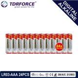 bateria seca alcalina preliminar de Digitas da manufatura de 1.5V China (LR03-AAA 6PCS)