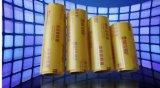 La pellicola di stirata gialla trasparente e commestibile del PVC aderiscono pellicola