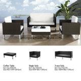 No exterior de alumínio de qualidade superior Jardim móveis de vime sofá com pernas Knockdonw (YT279)