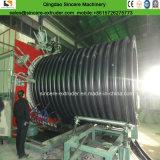 Nervura interna do tubo de esgoto do enrolamento de HDPE reforçado por linha de extrusão\fazendo a máquina