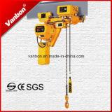 Tipo grua Chain elétrica da altura livre de 1.5 toneladas baixo