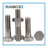Schraube des halbes Gewinde-rostfreie Hexagon-Steel304