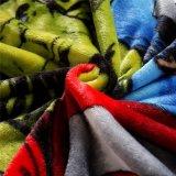 L'impression jaune larbins flanelle Couverture en laine polaire Guangzhou fournisseur