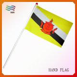 12*18 misura la bandierina in pollici d'ondeggiamento della mano su ordinazione del poliestere