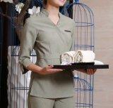 Uniforme cómodo modificado para requisitos particulares nuevo diseño del camarero del restaurante del hotel