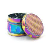 Camadas de 4 tambor liga de zinco Shaper Rainbow Moedor de ervas