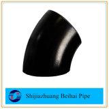 Aço carbono empurradas para tubos de soldagem do cotovelo de 90 Graus