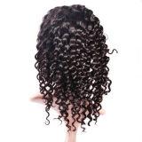 Peluca llena del cordón del pelo humano del 100% del cordón de las mujeres profundas sedosas brasileñas verdaderas de la onda