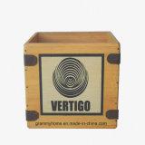 """Vertigo Caixa Gravar 7"""" na caixa de Vinil Lp Vintage Retro Engradado único de madeira"""