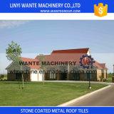 Telha de telhado revestida de pedra fácil do metal de Installationterracotta