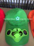 Deportes Sombrero de sol funcionan con energía solar del ventilador Cap