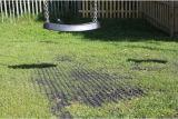 Зеленый резиновый коврик для травяных культур для игровая площадка