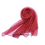 Venda por atacado impressa poliéster do lenço da forma da mola