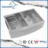 Aquacubic Küche Cupc doppelte Filterglocke-Schutzblech-Wanne (ACS3320A2Q)