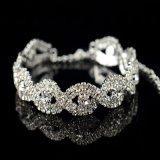 Braccialetto a cristallo del Rhinestone d'argento elegante per le donne