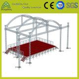 Desempenho de equipamentos de iluminação de palco de concertos de ligas de alumínio de parafuso do sistema de bastidor