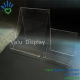 Acrylbuch-Standplatz, Acrylbuch-Gestell mit der Lippe, bewegliche Buch-acrylsauerausstellungsstände