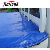 Blauer Belüftung-Ladung-Schlussteil deckt Vinylplane-Fertigwaren ab