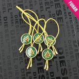 Prendas de Vestir personalizadas, Ver, en el bolso el sello de plástico de tipo String tag