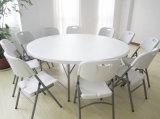 Half Plastic Round Banquet Dining Table에 있는 6 Feet Folding