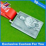 Aleación de zinc medallas deportivas medallas de metal en forma cuadrada a la venta