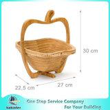 El bambú plegable hace decoraciones plegables del hogar a mano de la cesta de la comida campestre de la cesta de la cesta de fruta