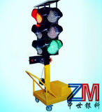 Cuatro aspectos semáforo solar portátil