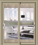 Нутряная алюминиевая раздвижная дверь с Tempered прокатанным стеклом