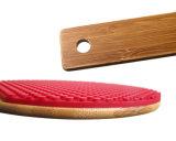 Résistant à la chaleur raquette de tennis de table en forme de pot de silicone titulaire Trivet mat