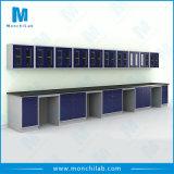 Stahllaborwand-Prüftisch mit an der Wand befestigtem Schrank