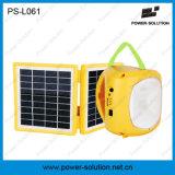 Bewegliche 4500mAh 6V Solarlaterne und Lampe mit Telefon-Aufladeeinheit für das Kampieren oder Notbeleuchtung (PS-L061)