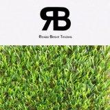 grama artificial sintética do campo do relvado da decoração da paisagem de 20-35mm para o jardim