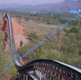 The General Lay-out of Long-Distance Curved Belt Conveyor for Sale