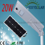 luz solar LED de la calle integrada de 20W