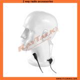 Écouteur acoustique de tube de surveillance avec des PTTs pour la radio bi-directionnelle