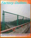 Гальванизированная покрынная PVC сваренная загородка стадиона ячеистой сети