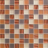 [3030مّ] [بروون] أبيض حجارة فسيفساء لأنّ جدار