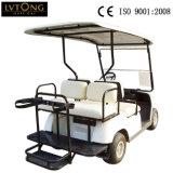シャンペン4の乗客の電気ゴルフ車
