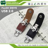 가장 싼 고품질 32GB 가죽 USB 섬광 드라이브