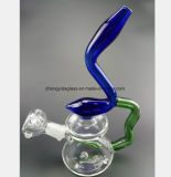 Schwarzes, blaues Pinguin-Filter-Glas-Rauch-Tabak-Rohr