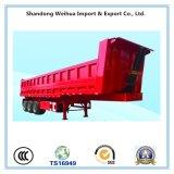 40t caminhão basculante traseiro reboque, caixa de carga semi reboque de Fabricação