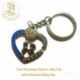 개인화된 스테인리스 선물 심혼 모양 기념품 사기질 열쇠 고리