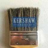 Brosse à peinture (pinceau, brosse plate 100% pure à poils gris avec poignée en plastique)