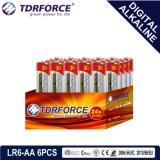 1.5V中国の製造のデジタル一次アルカリ乾電池(LR6-AA 24PCS)