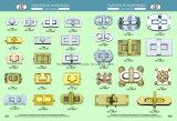 جديد تصميم ضوء نوع ذهب مضلّع دورة تعقّب هويس لأنّ حقيبة