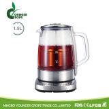 1.7Lたくわえの暖かい温度の設定のガラス茶鍋の電気やかん
