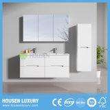 MDF Deluxe Armários de banheiro com 2 lavatórios e suave Sistema de Fecho HS-F1103A-1200