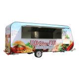 De aangepaste die Bestelwagens van het Voedsel van de Aanhangwagen van het Voedsel van de Vertoning van Koekjes in Wandelgalerij worden ontworpen